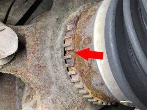 Broken Axle Shaft