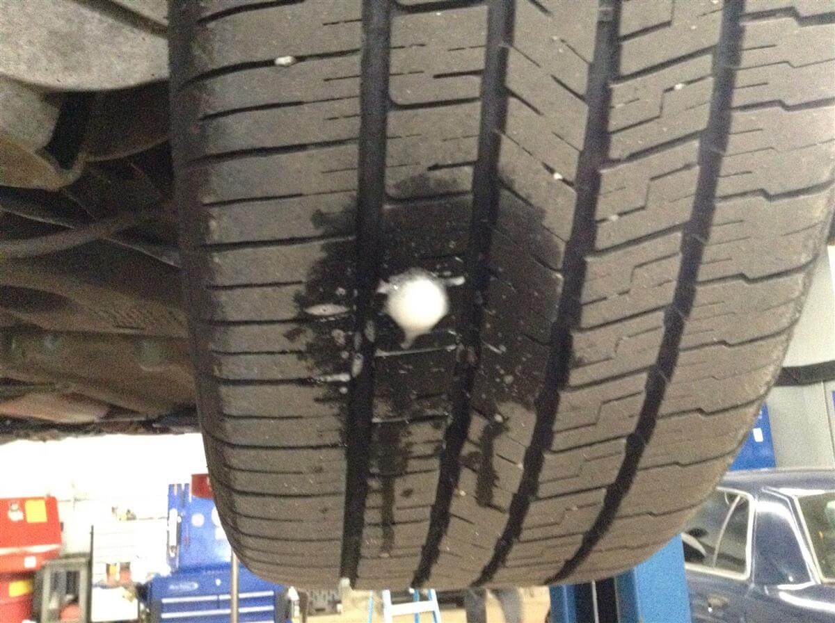 Help! There\'s a nail in my tire!